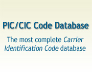 PIC/CIC Code Database